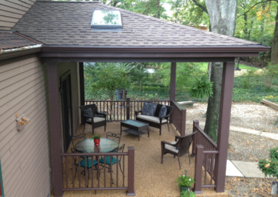 View of an outdoor home addition by the professionals at Advance Design and Remodel