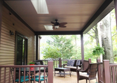 View of covered patio addition in Westlake, Ohio