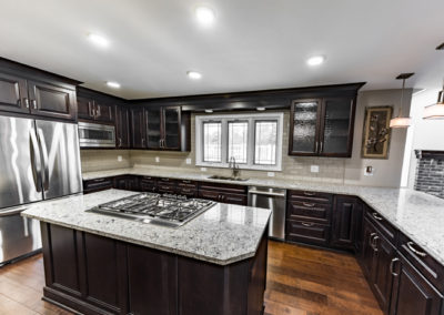 View of a completed kitchen renovation from the professionals at Advance Design and Remodel