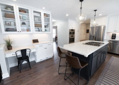 View of a modern kitchen renovation from the professionals at Advance Design and Remodel