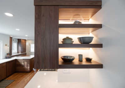 View of shelving in a kitchen in Shaker Heights Ohio