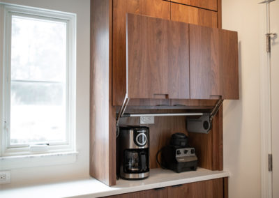 View of the coffee bar in an kitchen in Shaker Heights