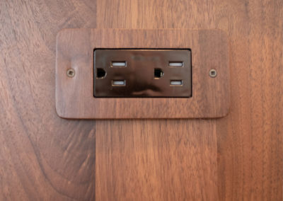 A close view of an outlet