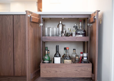 Inside a cabinet in a kitchen in Shaker Heights