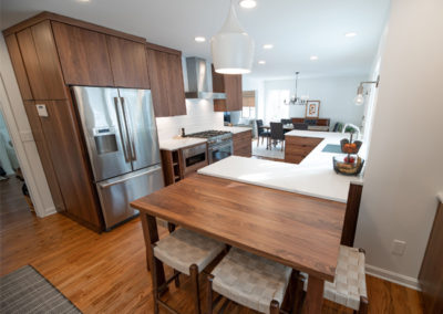 View of a seating area in a kitchen remodel in Shaker Heights Ohio