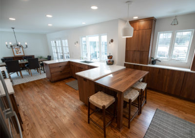 View of an open concept kitchen remodel in Shaker Heights Ohio