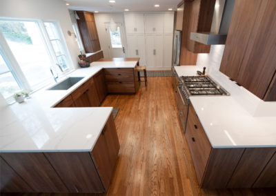 Another view of an open concept kitchen in Shaker Heights