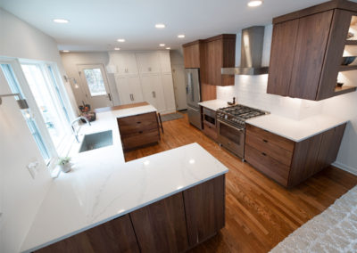 View of an open concept kitchen renovation from the professionals at Advance Design and Remodel
