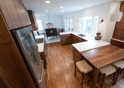 View of an open concept kitchen in Shaker Heights Ohio from the professionals at Advance Design and Remodel